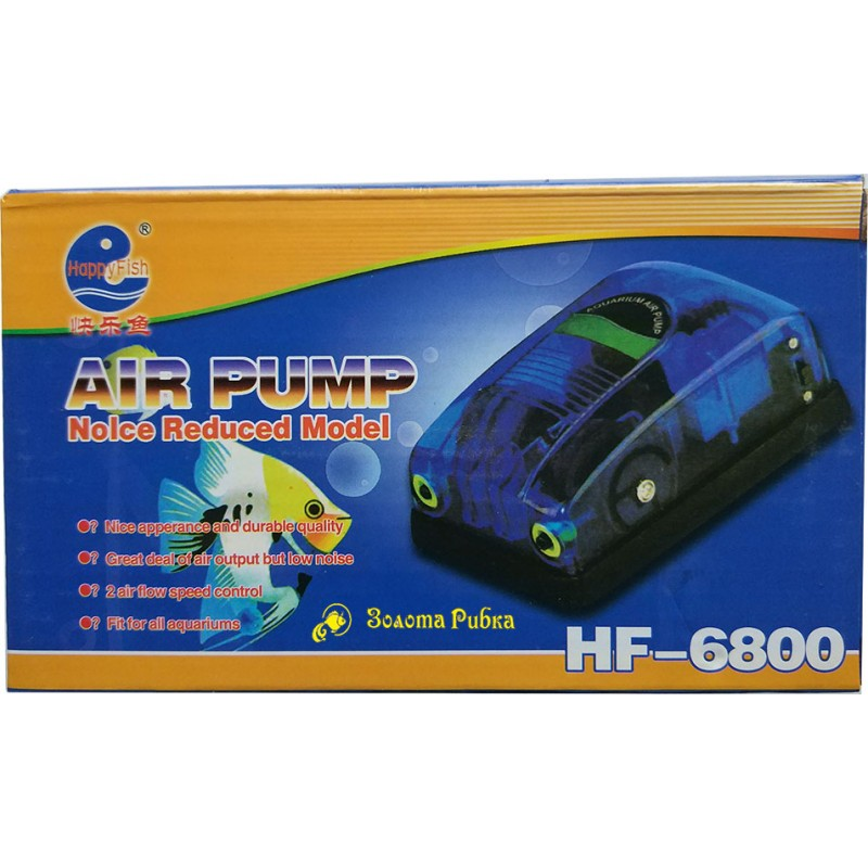 Компрессор Happy Fish HF-6800, 4.5l/min, 8W