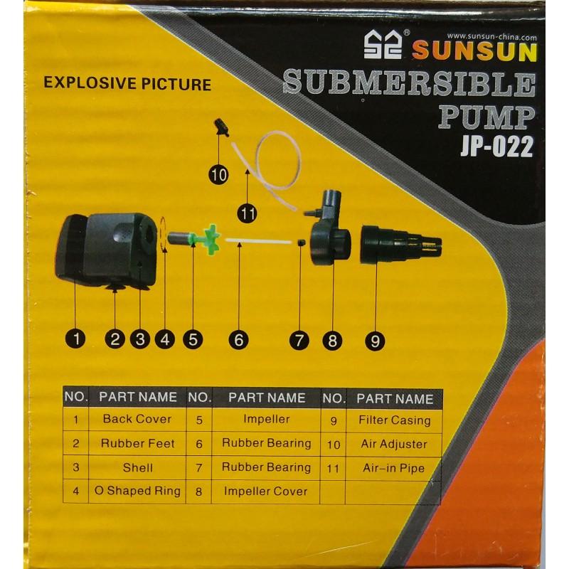 Sunsun JP-022 - универсальный погружной насос помпа.