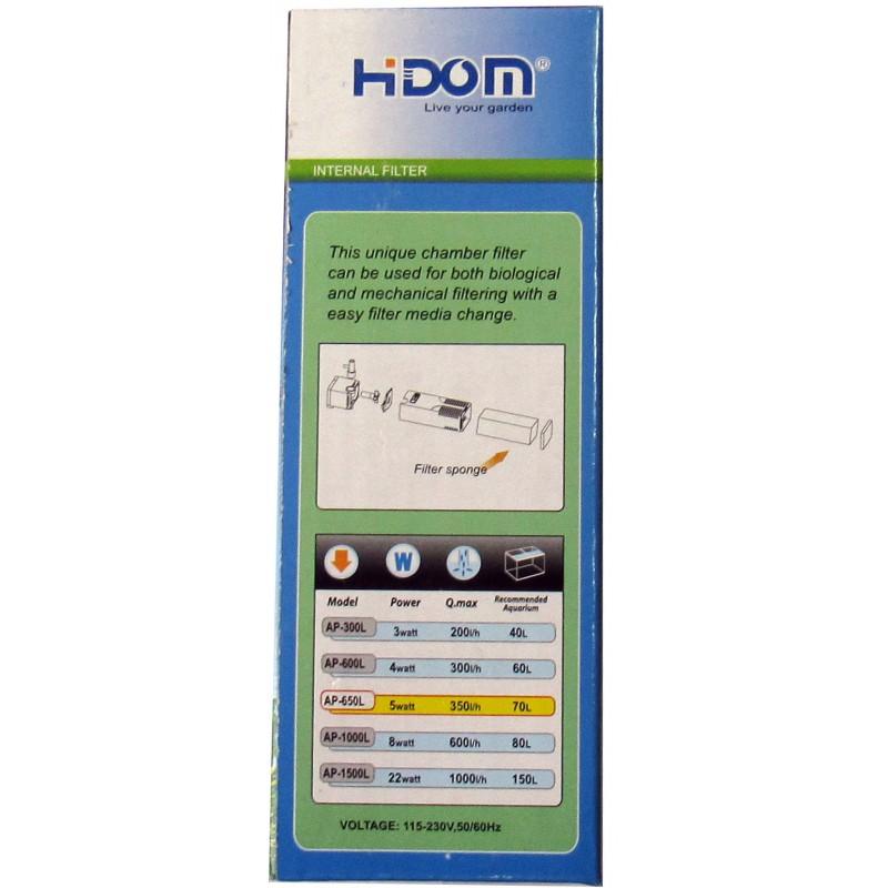 Внутренний фильтр Hidom AP-650 L  5 W