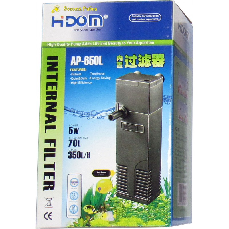 Внутренний фильтр Hidom AP-650 L  ...