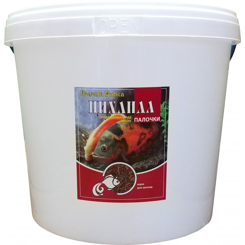 Корм для рыб Цихлида  ведро 10 л 3 кг