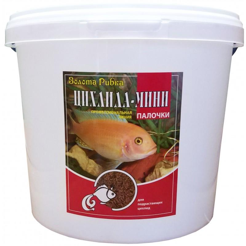 Корм для рыб Цихлида Мини ведро 5 л 1,5 кг