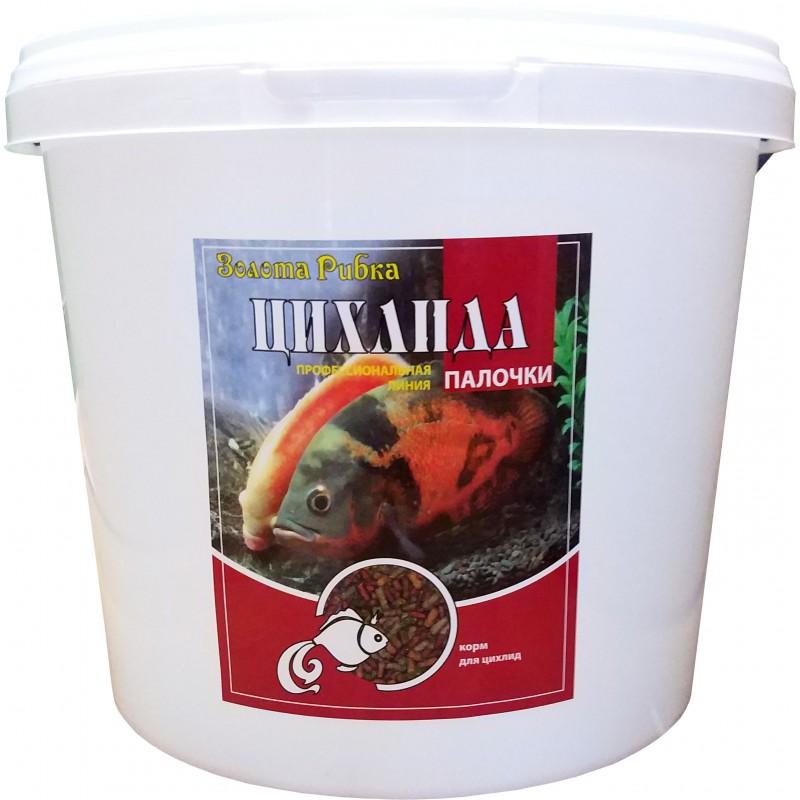 Корм для рыб Цихлида  ведро 5 л 1,5 кг