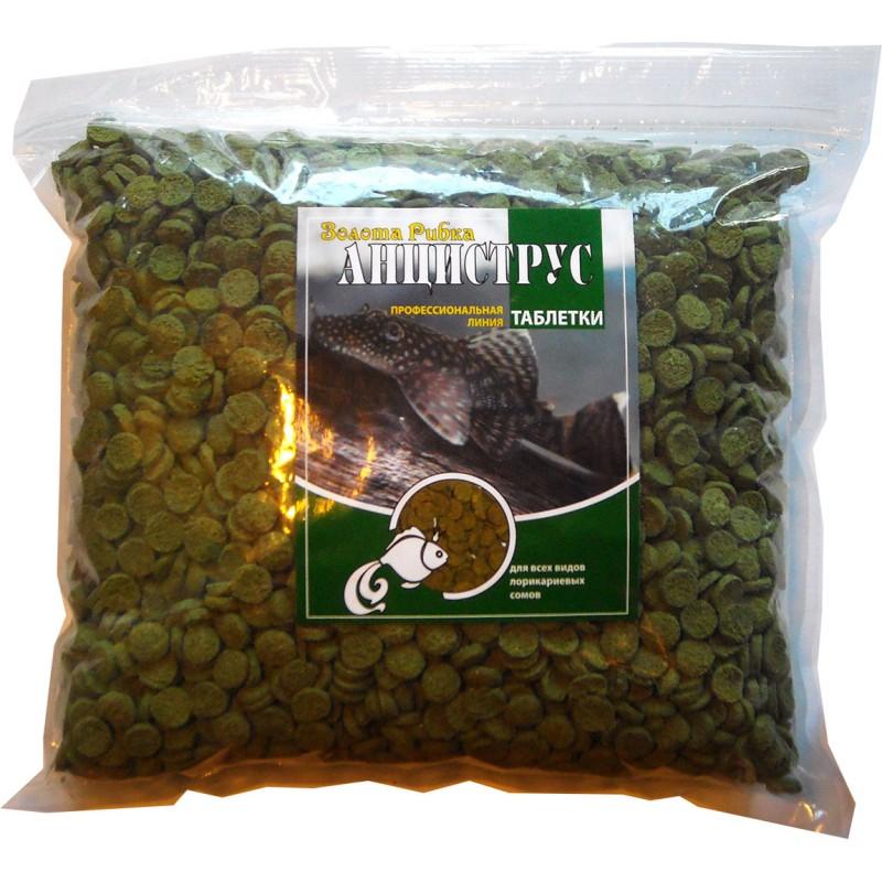 Корм для сомов Анциструс таблетка 12 мм пакет 1 кг