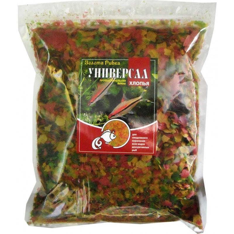 Корм для рыб Универсал (хлопья) пакет 1 кг