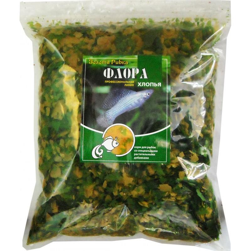 Корм для рыб Флора (хлопья) пакет 1 кг
