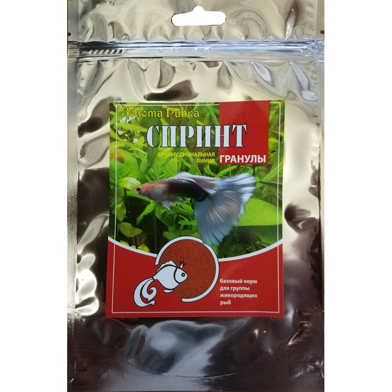 Корм для рыб Спринт пакет 200 г