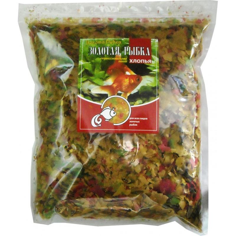 Золотая рыбка (хлопья) пакет 1 кг